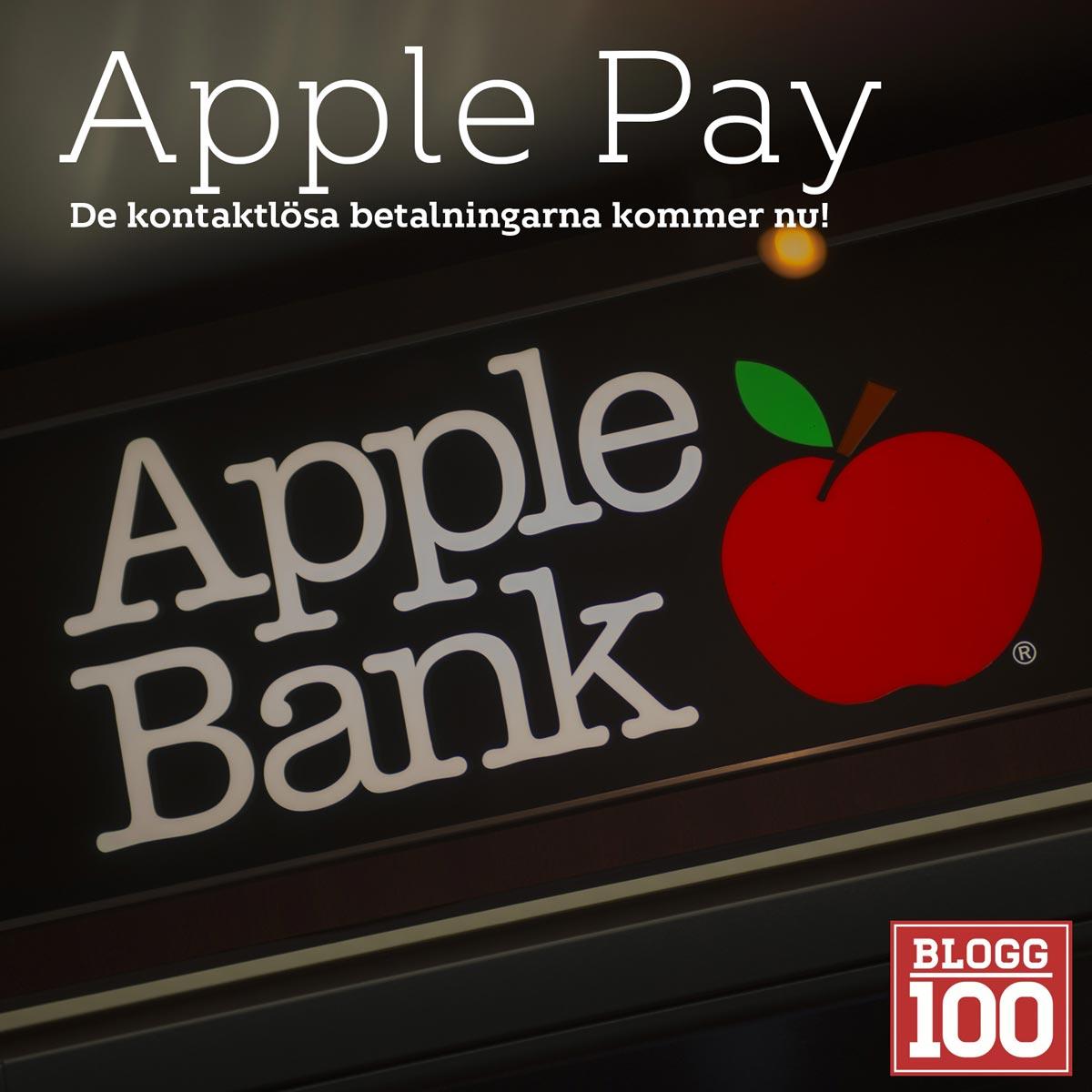 Apple Pay, nu lossnar det för kontaktlösa betalningar #blogg100 #FB