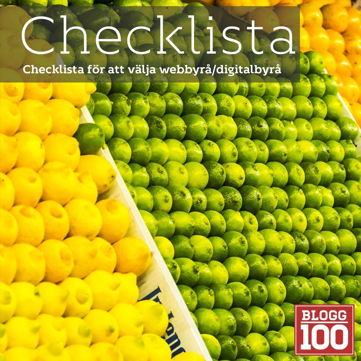 En enkel checklista för att välja rätt digital/webbyrå #blogg100 #fb
