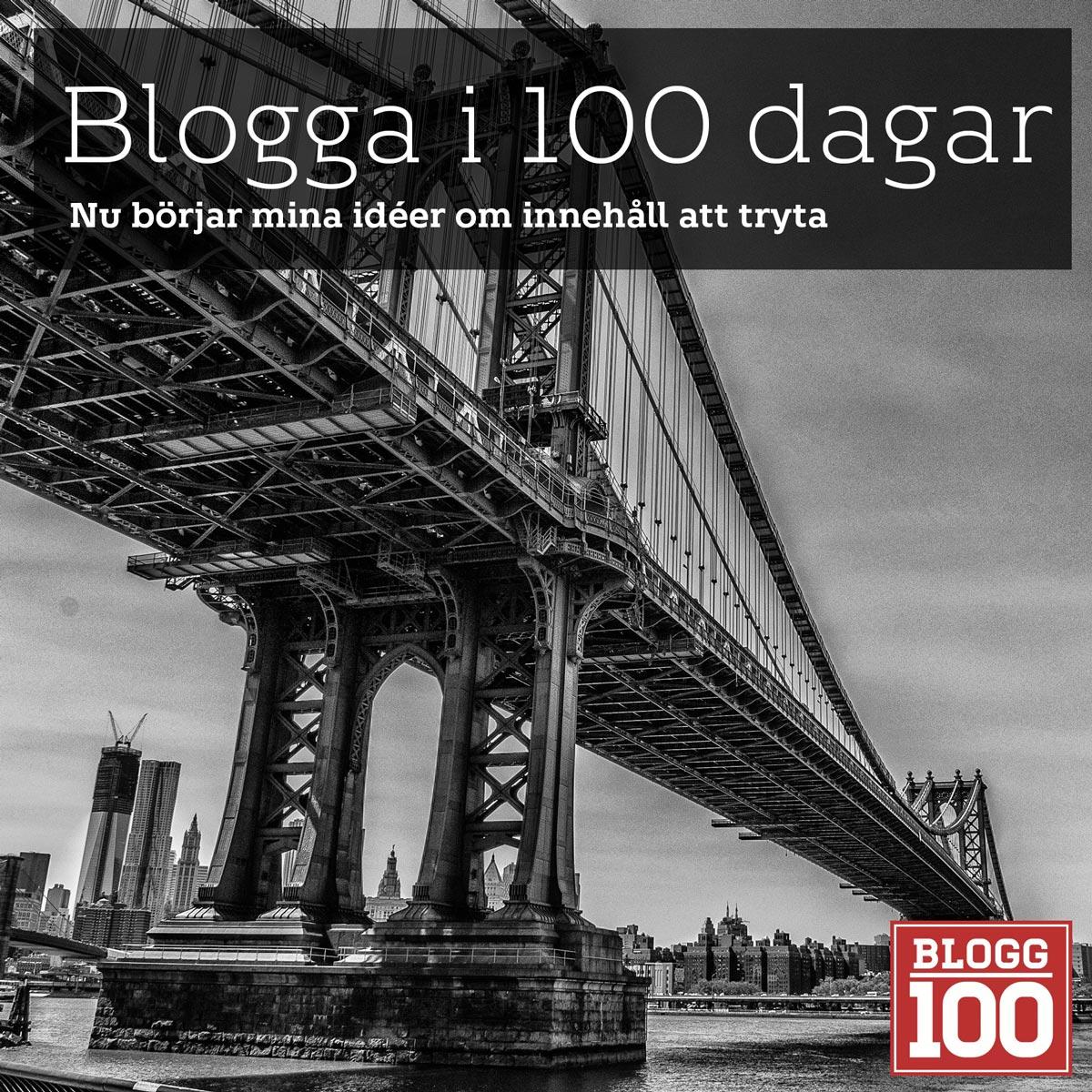 Blogga i 100 dagar är jag tokig? #blogg100 #fb