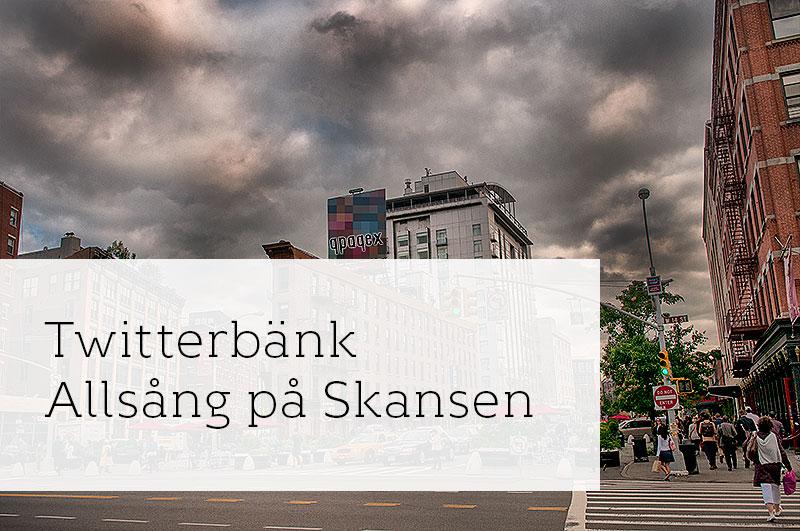 #twitterbanken på Allsång på Skansen på tisdag!